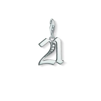 Ladies Thomas Sabo Sterling Silver Charm Club 21 Charm 1507-643-21