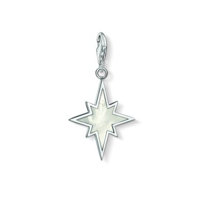 Ladies Thomas Sabo Sterling Silver Charm Club Mother of Pearl Star Charm 1538-029-14