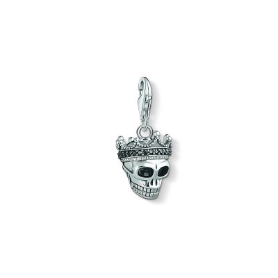 Biżuteria Thomas Sabo Jewellery Charm Club Rebel Skull & Crown Charm 1554-643-11