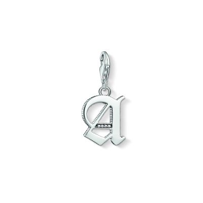 Ladies Thomas Sabo Sterling Silver Charm Club Letter A Charm 1581-643-21