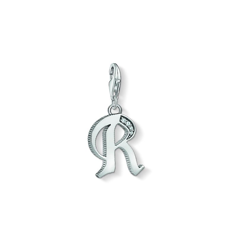 Ladies Thomas Sabo Sterling Silver Charm Club Letter R Charm 1598-643-21