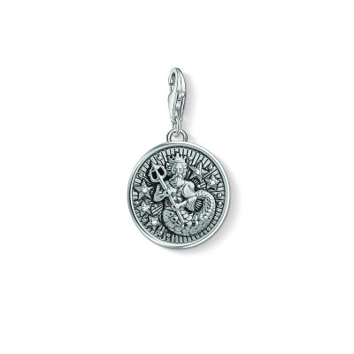 Ladies Thomas Sabo Sterling Silver Charm Club Zodiac Sign Aquarius Charm 1638-643-21