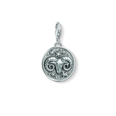 Ladies Thomas Sabo Sterling Silver Charm Club Zodiac Sign Aries Charm 1640-643-21