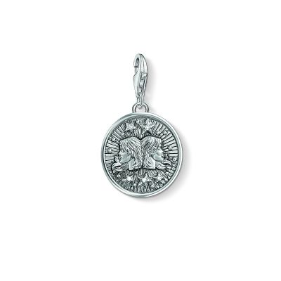 Ladies Thomas Sabo Sterling Silver Charm Club Zodiac Sign Gemini Charm 1642-643-21