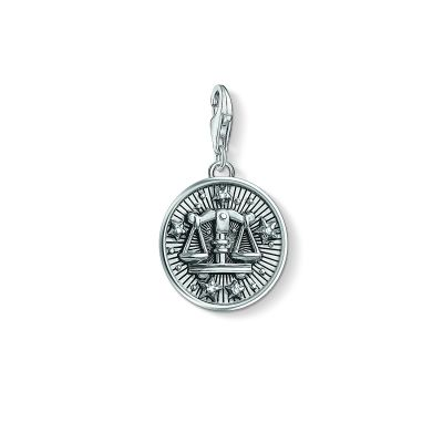 Ladies Thomas Sabo Sterling Silver Charm Club Zodiac Sign Libra Charm 1646-643-21