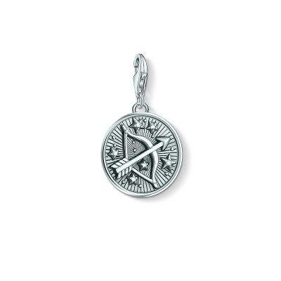 Ladies Thomas Sabo Sterling Silver Charm Club Zodiac Sign Sagittarius Charm 1648-643-21