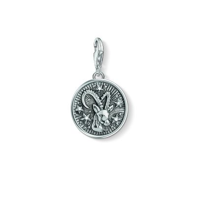 Ladies Thomas Sabo Sterling Silver Charm Club Zodiac Sign Capricorn Charm 1649-643-21