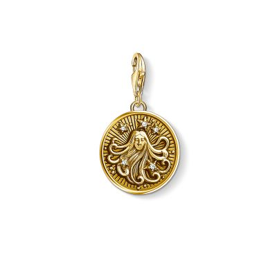 Damen Thomas Sabo Charm Club Zirkonia Zodiac Sign Virgo Charm vergoldetes Sterlingsilber 1657-414-39