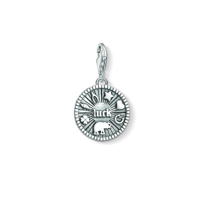 Ladies Thomas Sabo Sterling Silver Charm Club Lucky Coin Charm 1682-637-21