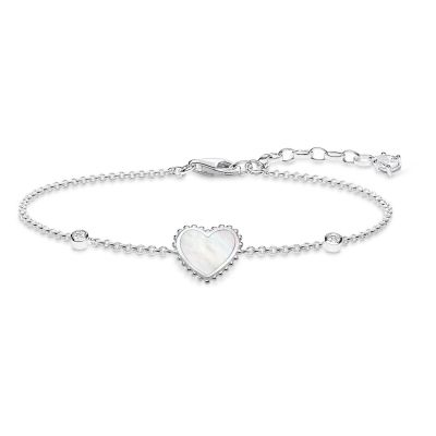Ladies Thomas Sabo Sterling Silver Glam & Soul Heart Bracelet A1765-030-14-L19V