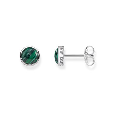 Thomas Sabo Dam Green Stud Earrings Sterlingsilver H1990-468-6
