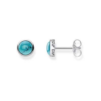 Ladies Thomas Sabo Sterling Silver Glam & Soul Turquoise Stud Earrings H1990-878-17