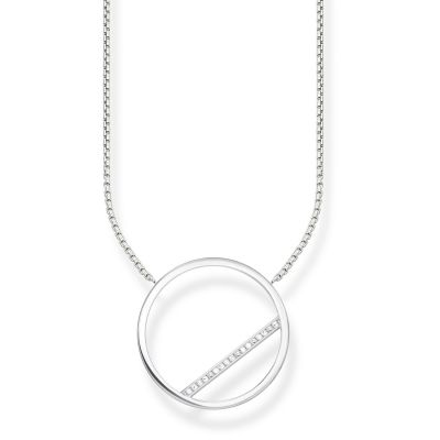 Ladies Thomas Sabo Sterling Silver Glam & Soul Circle Necklace KE1752-051-14-L45V