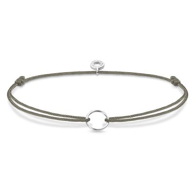Damen Thomas Sabo Charm Club Little Secret Circle Charm Armband Sterling-Silber LS066-173-5-L20V