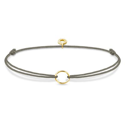 Thomas Sabo Dames Little Secret Circle Charm Bracelet Gold Plated Sterling Silver LS067-848-5-L20V