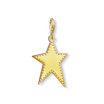Damen Thomas Sabo Charm Club Golden Star Charm vergoldetes Sterlingsilber Y0040-413-39