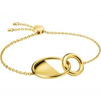 Ladies Calvin Klein Gold Plated Locked Bracelet KJ8GJB100100