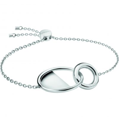 Ladies Calvin Klein Silver Plated Locked Bracelet KJ8GMB000100