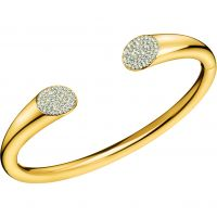 Ladies Calvin Klein Gold Plated Brilliant Bangle KJ8YJF14010M