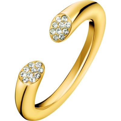 Ladies Calvin Klein Gold Plated Brilliant Ring Size N KJ8YJR140107