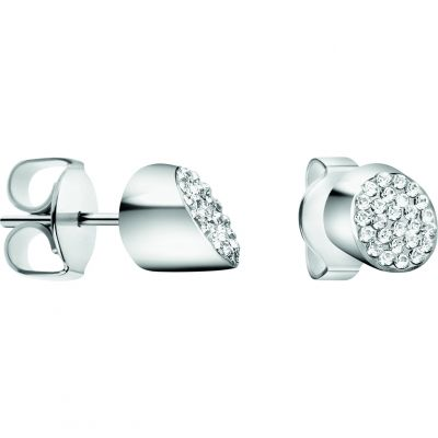 Ladies Calvin Klein Silver Plated Brilliant Earrings KJ8YME040100