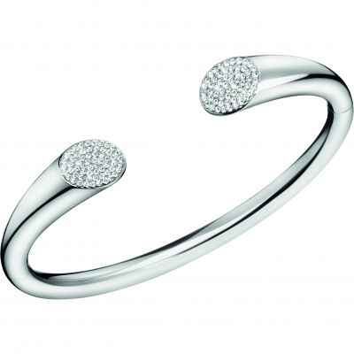 Ladies Calvin Klein Silver Plated Brilliant Bangle KJ8YMF04010M