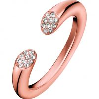 Ladies Calvin Klein Rose Gold Plated Brilliant Ring Size N KJ8YPR140107