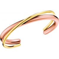 Ladies Calvin Klein Rose Gold Plated Double Thick Bangle KJ8XJF20020M