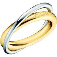 Ladies Calvin Klein Two-tone steel/gold plate Double Ring Size N KJ8XJR200107