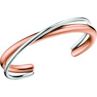 Ladies Calvin Klein Two-Tone Steel and Rose Plate Double Thick Bangle KJ8XPF20010M
