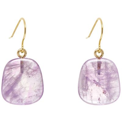 Ladies Lola Rose Gold Plated Dottie Lavendar Amethyst Earrings 5H0025-281000