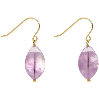 Ladies Lola Rose Gold Plated Wilda Lavender Amethyst Earrings 5H0326-281000