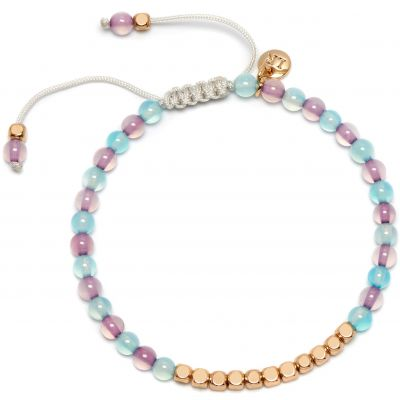 Ladies Lola Rose Gold Plated Marylebone Blue & Lilac Agate Bracelet 2O0006-C78C79