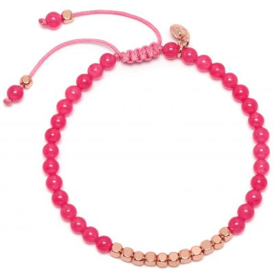 Ladies Lola Rose Rose Gold Plated Marylebone Pink Rose Quartzite Bracelet 2Q0003-B17000
