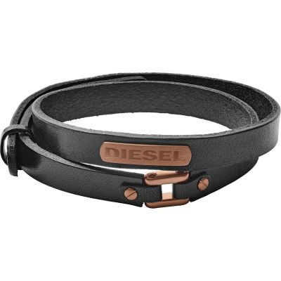 Herren Diesel Leather/Steel rosévergoldet DX1093221