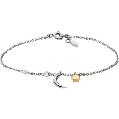 Damen Fossil Wish Upon A Star Kristall Sterling Armband Sterling-Silber JFS00431998