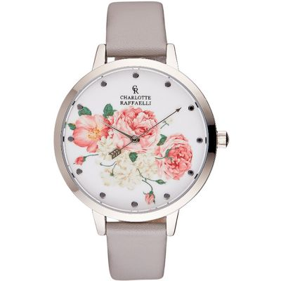 Charlotte Raffaelli Floral Collection Floral Damenuhr in Grau CRF001