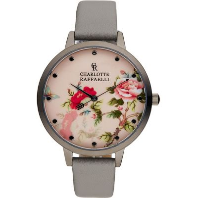 Charlotte Raffaelli Floral Collection Floral Damenuhr in Grau CRF030