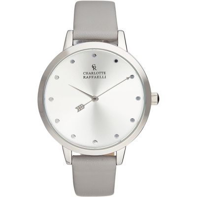 Charlotte Raffaelli Basic Collection Basic Damenuhr in Grau CRB004