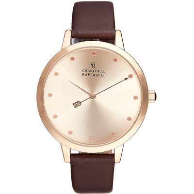 Charlotte Raffaelli Basic Collection Basic Damenuhr in Braun CRB006