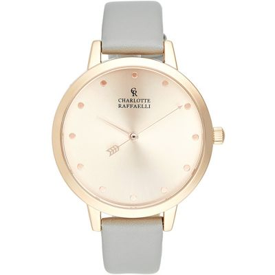 Charlotte Raffaelli Basic Collection Basic Damenuhr in Grau CRB029