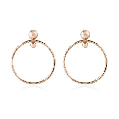 Ladies Radley Rose Gold Plated Sterling Silver Bliss Crescent Earrings RYJ1016