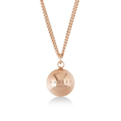 Ladies Radley Rose Gold Plated Sterling Silver Bliss Crescent Necklace RYJ2010