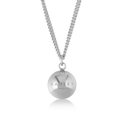 Ladies Radley Sterling Silver Bliss Crescent Necklace RYJ2013