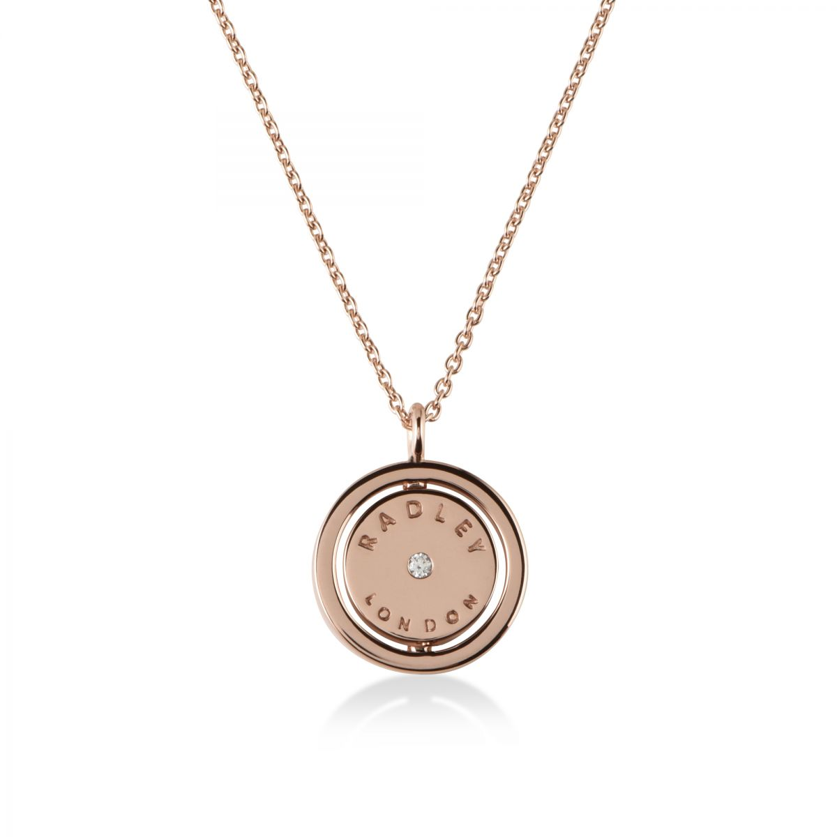 Radley Love Silver Necklace RYJ2015 ssTr2OE4NA