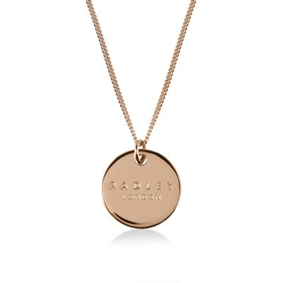 Ladies Radley Rose Gold Plated Sterling Silver Broad Street Necklace RYJ2020