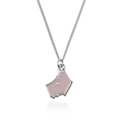 Ladies Radley Sterling Silver Love Radley Necklace RYJ2024