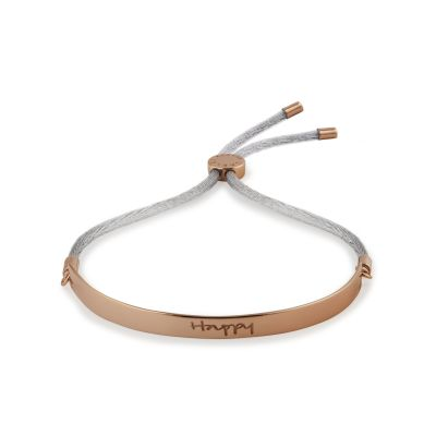 Ladies Radley Rose Gold Plated Sterling Silver Radley Smile Bracelet RYJ3004