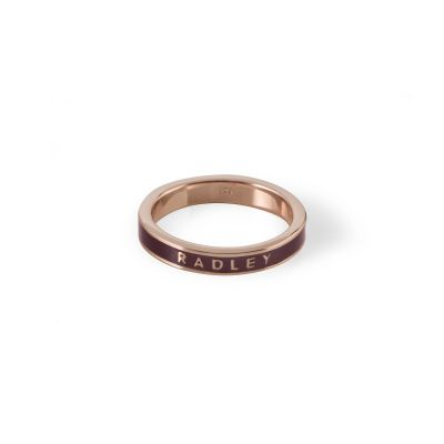 Ladies Radley Rose Gold Plated Sterling Silver Hatton Row Ring Size L RYJ4006-S