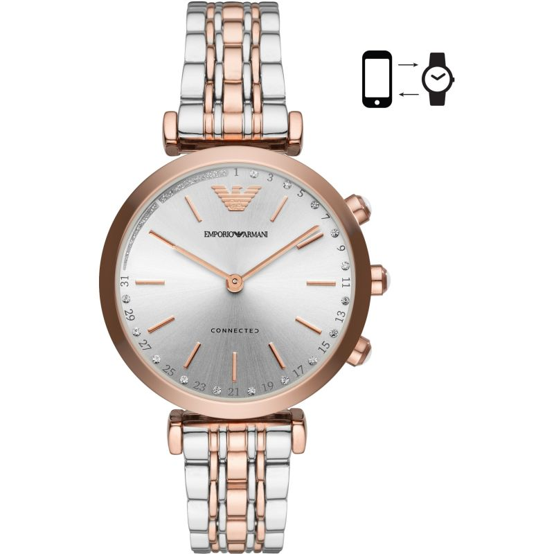 Ladies Emporio Armani Connected Bluetooth Hybrid Smartwatch ART3019